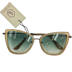 NWT Cat Eye Tan & Olive Sunglasses
